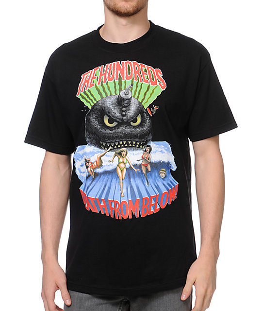 The Hundreds Tidal Black T-Shirt