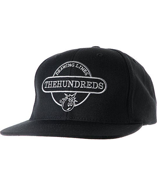 The Hundreds Town Black Snapback Hat