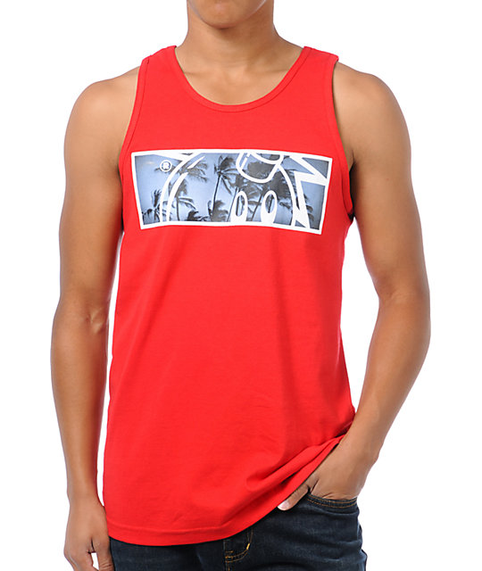 The Hundreds Transition Scene Red Tank Top