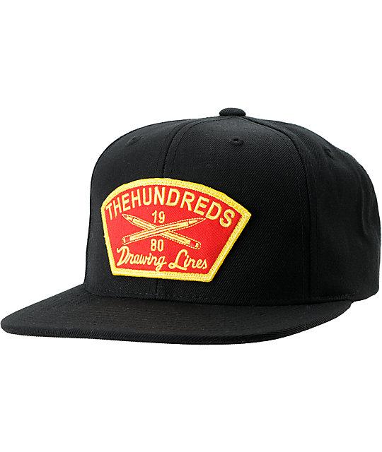 The Hundreds Troop Black Snapback Hat