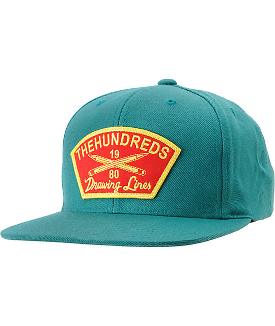 The Hundreds Troop Teal Snapback Hat