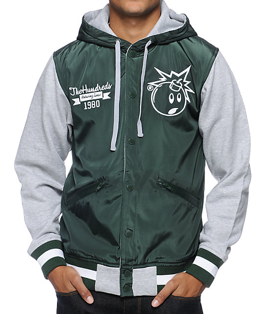 The Hundreds Unloaded Forrest Green Varsity Jacket