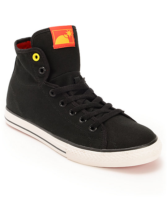 The Hundreds Valenzuela High Black Canvas Shoes