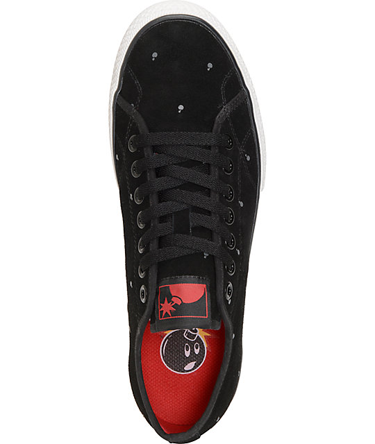 The Hundreds Valenzuela Low Polkabomb Black Skate Shoes