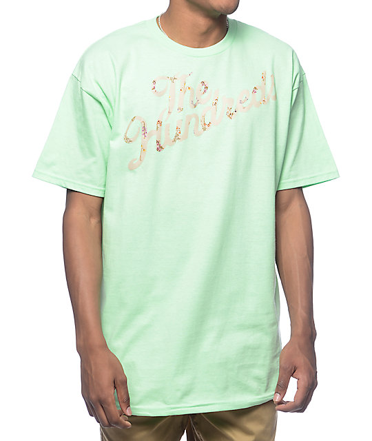 The Hundreds Wilted Slant Mint T-Shirt
