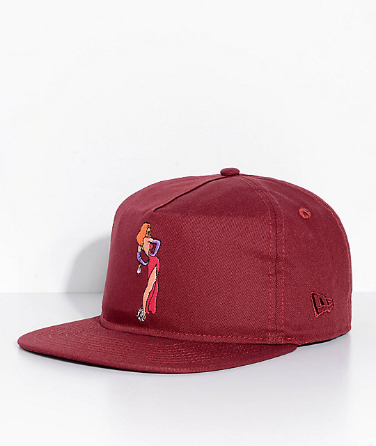The Hundreds X Who Framed Roger Rabbit Wifey Burgundy Snapback Hat