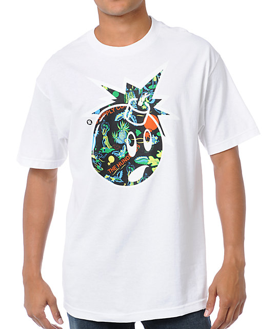The Hundreds x Diamond Supply Adam Bomb Logo White T-Shirt