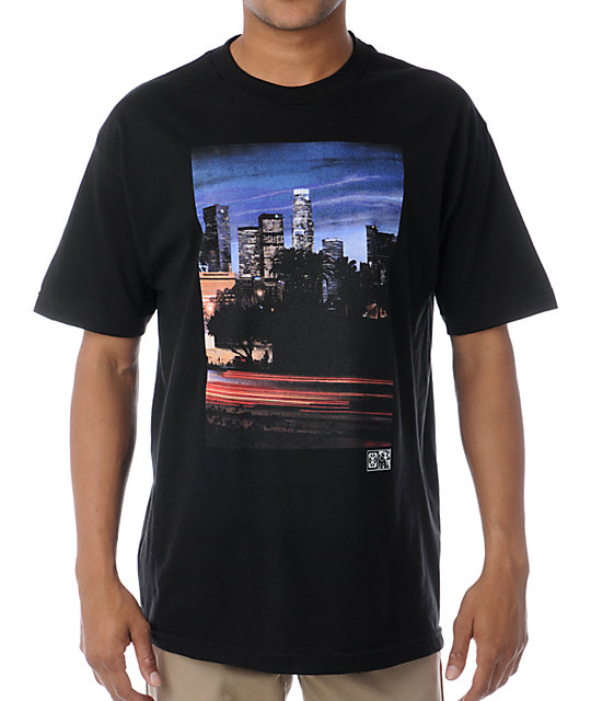 The Hundreds x The Seventh Letter Downtown Saber Black T-Shirt