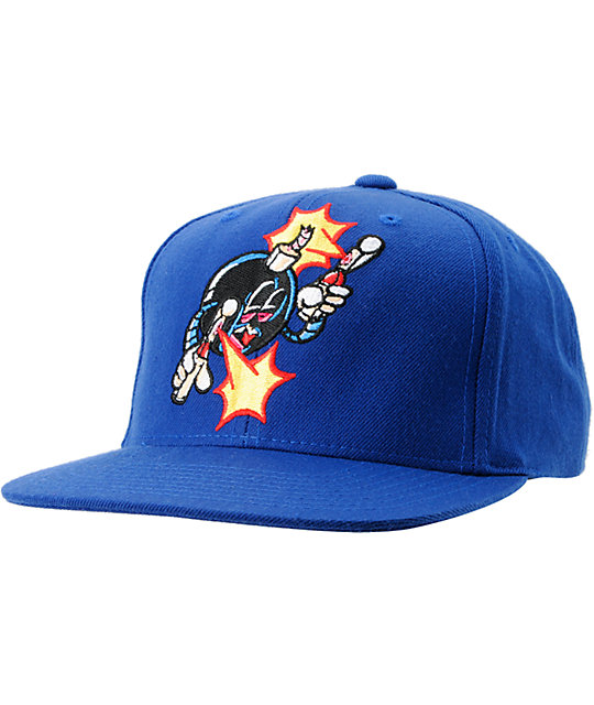 The Hundreds x The Seventh Letter Rime Adam Blue Snapback Hat