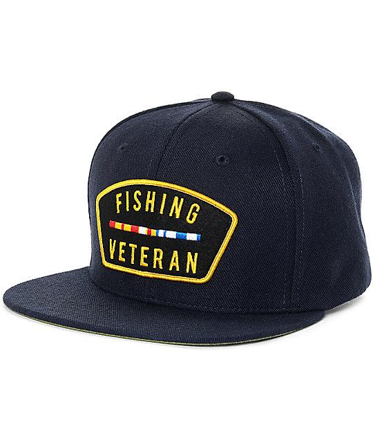 The Mad Hueys Veteran Navy Snapback Hat