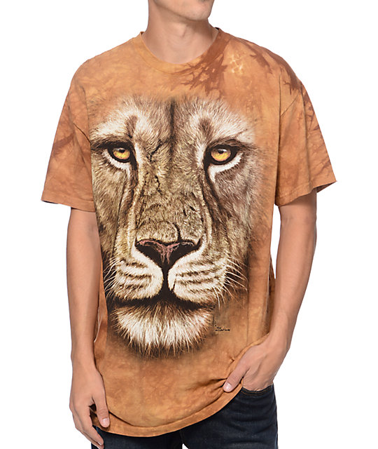 The Mountain Lion Warrior Beige Tie Dye T-Shirt
