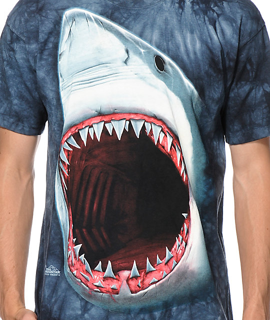 fish tie dye the mountain shark bite tie dye t shirt zumiez
