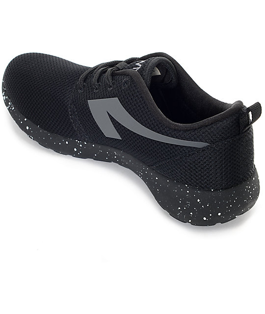 The People's Movement Crescent Black Speckled Mesh Womens Shoes