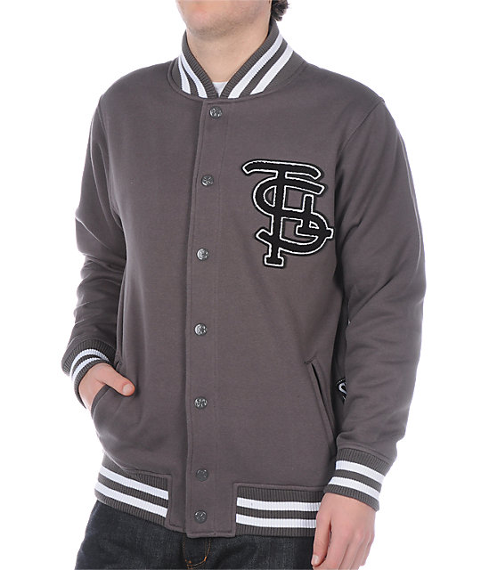 The Seventh Letter Varsity Grey Jacket
