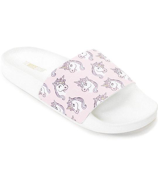 The White Brand Unicorn Slide Women's Sandals