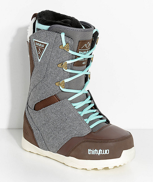 ThirtyTwo Womens Lashed Grey Snowboard Boots