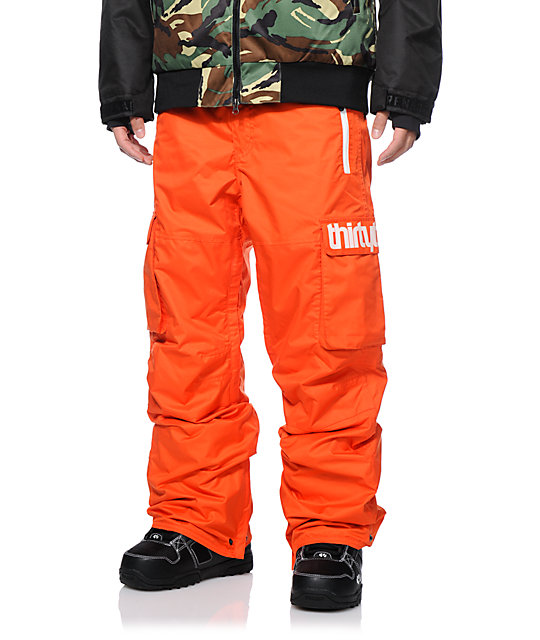 Thirtytwo Blahzay Orange 10K Snowboard Pants