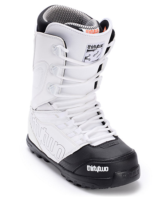 Thirtytwo Lashed White & Black Snowboard Boots