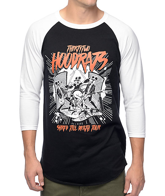Thirtytwo Shred Till Death Black Baseball T-Shirt