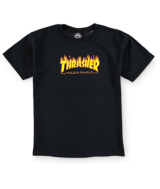 Thrasher Boys Flame Logo T-Shirt at Zumiez : PDP