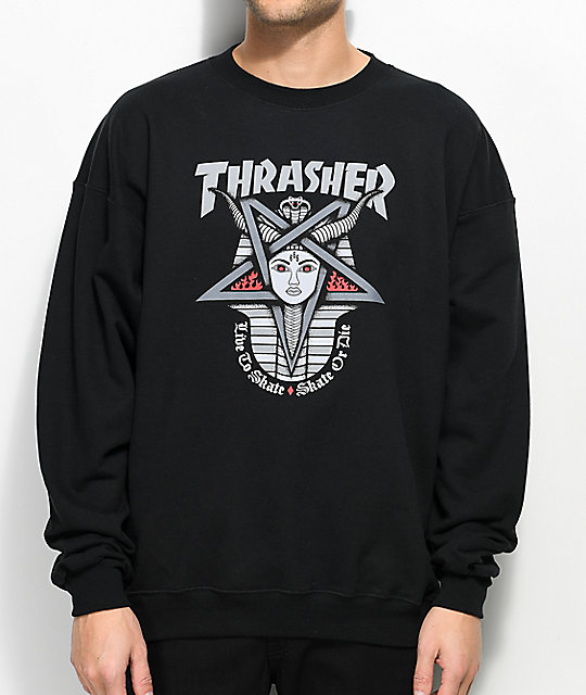 Thrasher Goddess Black Crew Neck Sweatshirt | Zumiez