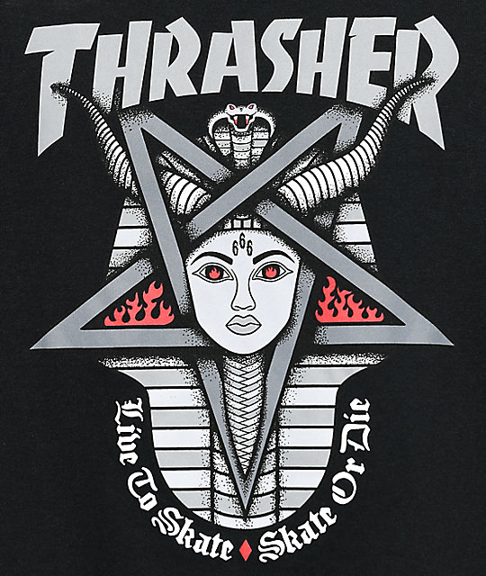 Thrasher Goddess Black T-Shirt