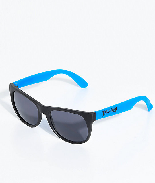 Thrasher Logo Blue Sunglasses by Thrasher