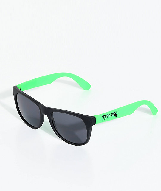 Thrasher Logo Green Sunglasses by Thrasher