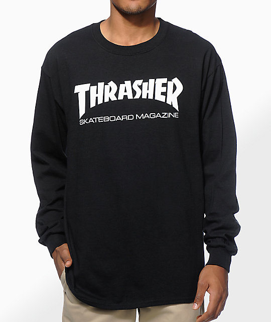 Thrasher Mag Logo Long Sleeve T-Shirt at Zumiez : PDP