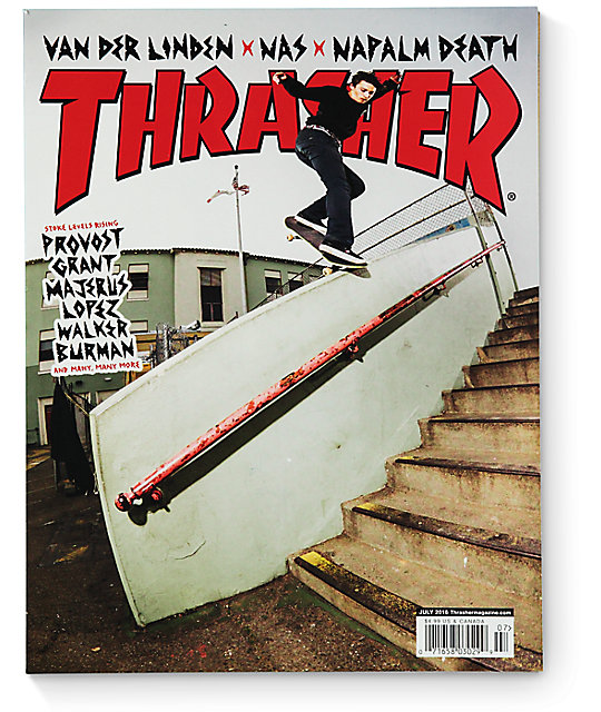 Today, Thrasher has expanded into providing clothing and accessories to skateboarders of all types so they can now rep the magazine that helped shape their lives. Taking from their classic styling Thrasher offers a wide assortment of items ranging from the classic hoodie and t-shirts to stickers, blankets, skateboards, and headgear.