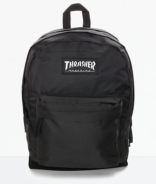 Magazine Logo Black Backpack