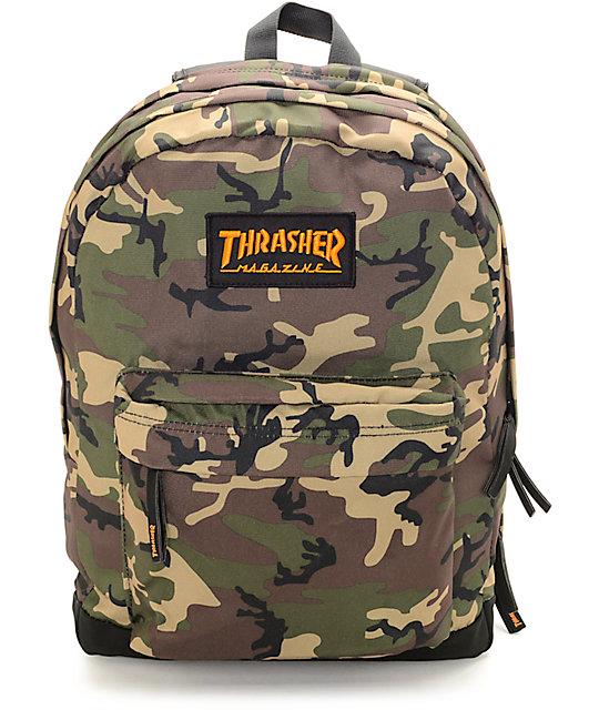 Thrasher Magazine Logo Camo Backpack