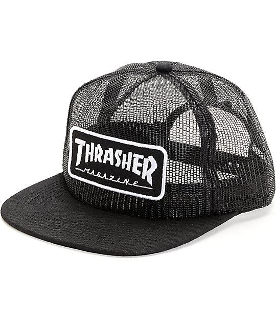 Thrasher Magazine Logo Full Mesh Snapback Hat