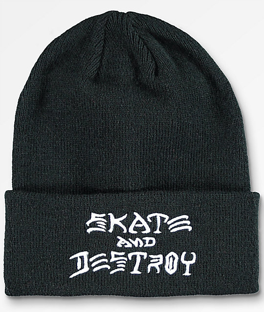 Thrasher Skate And Destroy Black Beanie