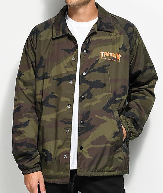 Camouflage coach jacket
