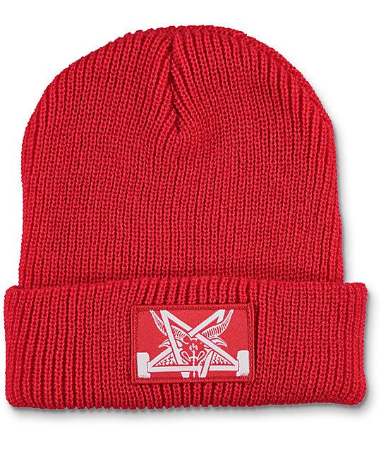 Thrasher Skategoat Zoom Red Beanie