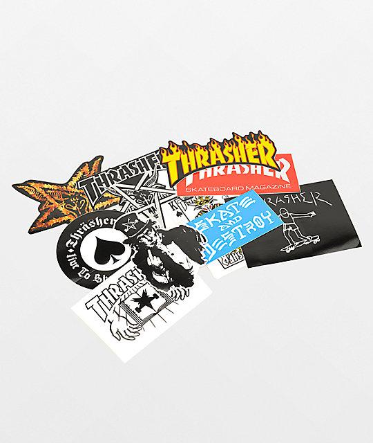 Thrasher multipack de pegatinas
