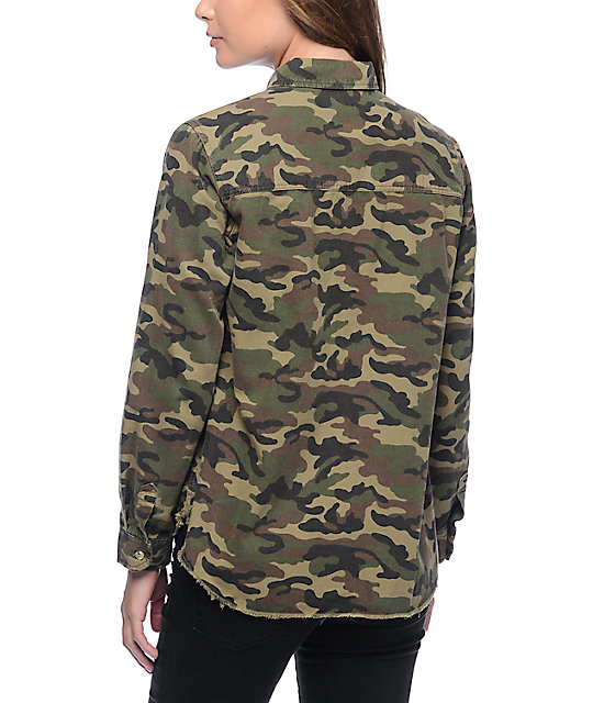 Thread Supply Camo Button Up Shirt Zumiez