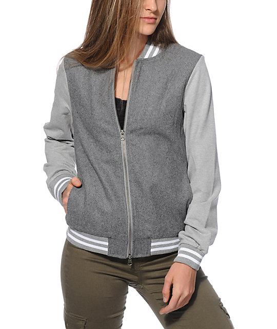 Thread & Supply Grey Varsity Jacket