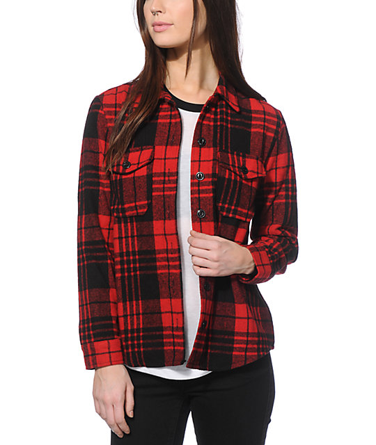 Thread & Supply Kate Red Flannel Jacket