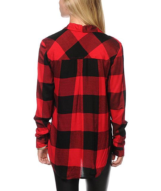Thread supply oversized red plaid shirt zumiez for Oversized red plaid shirt