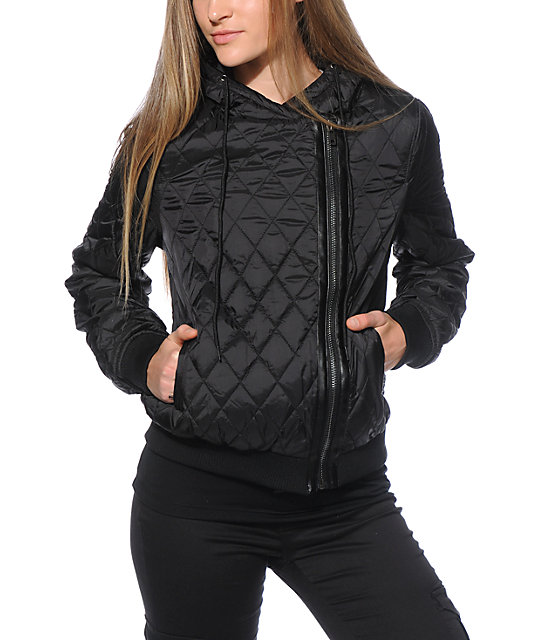 Thread & Supply Quilted Black Puffer Jacket