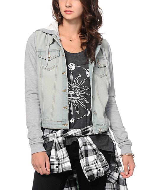 Thread & Supply Grey & Light Wash Denim Jacket