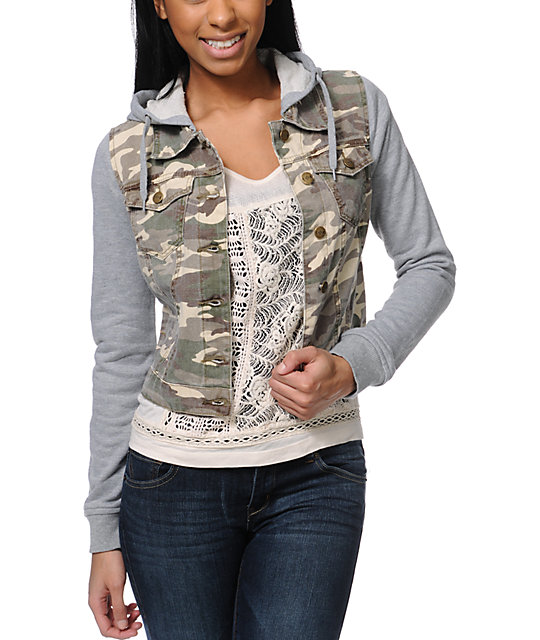 Thread and Supply Camo Vest Hoodie