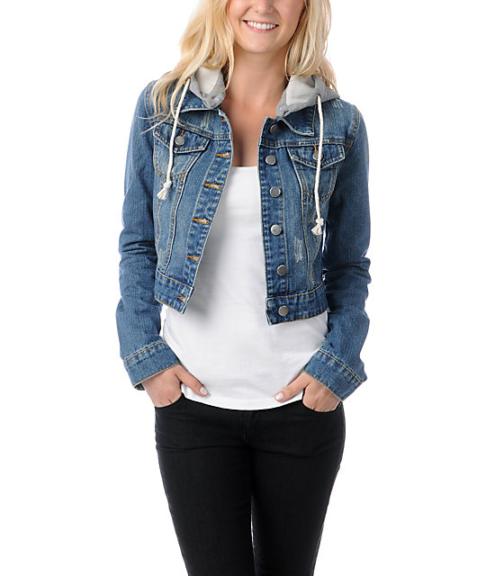 Thread and Supply Cropped Hooded Jean Jacket | Zumiez
