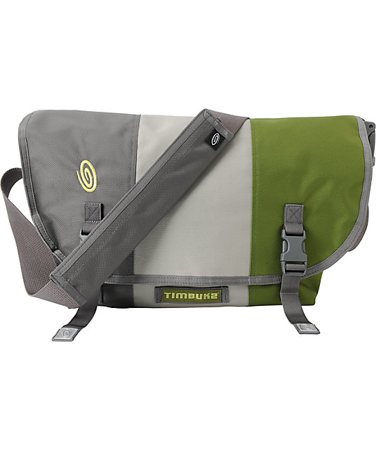 Timbuk2 Classic Gunmetal, Cement & Algae Medium Messenger Bag