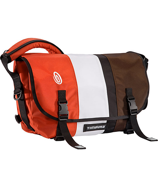 Timbuk2 D-Lux Race Stripe Orange Medium Laptop Messenger Bag