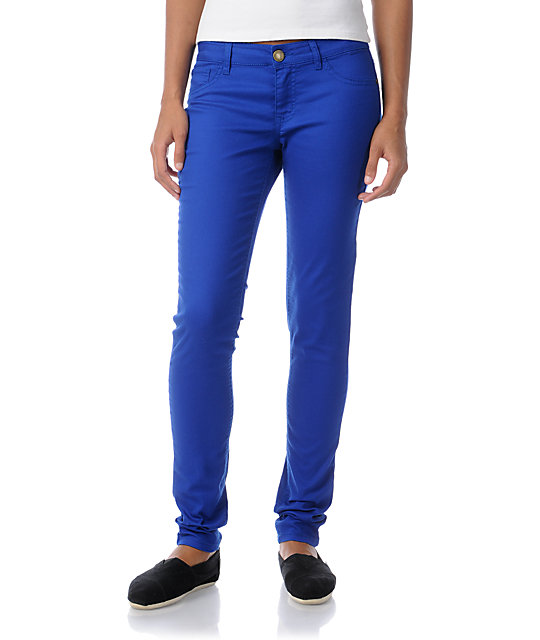 Tinsel Town Royal Blue Skinny Twill Pants at Zumiez : PDP