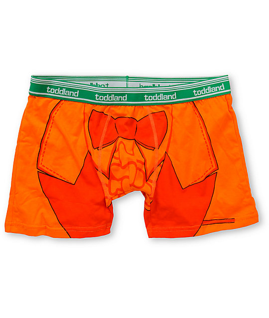 Toddland Stupidererer Orange Boxer Briefs