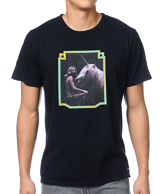 Toddland Unicorn Black T-Shirt